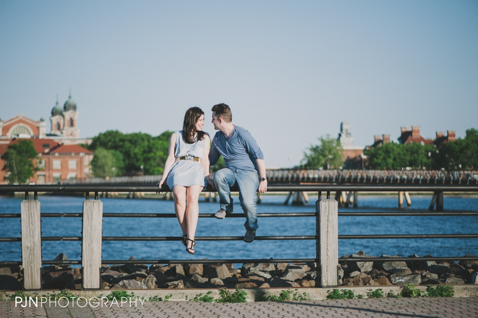 PJN Photography Victoria & Adam Engagement Liberty State Park New Jersey-11