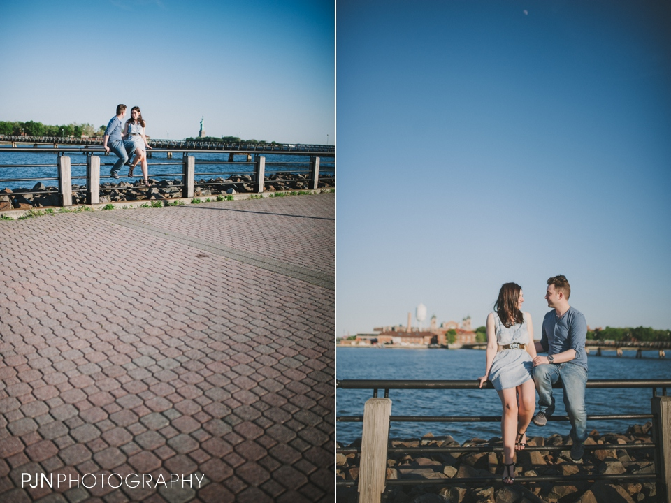 PJN Photography Victoria & Adam Engagement Liberty State Park New Jersey-9