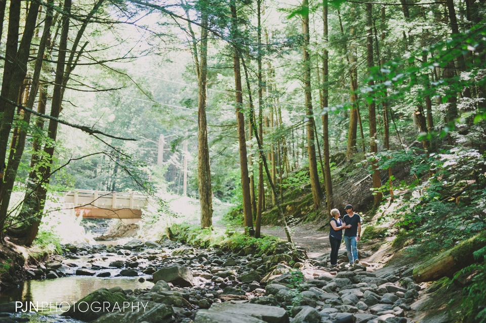 PJN Photography 20th Anniversary Engagement Session Adirondack Mountain Shelving Rock Falls New York-13
