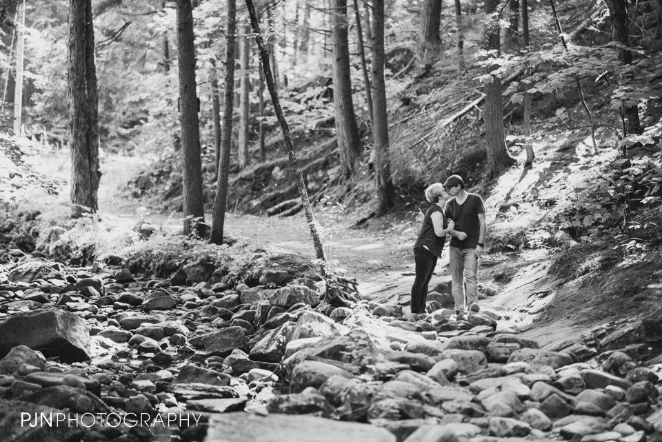 PJN Photography 20th Anniversary Engagement Session Adirondack Mountain Shelving Rock Falls New York-15