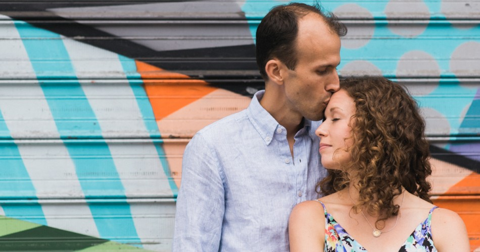 Katie & Anthony's Greenpoint Brooklyn Engagement Session