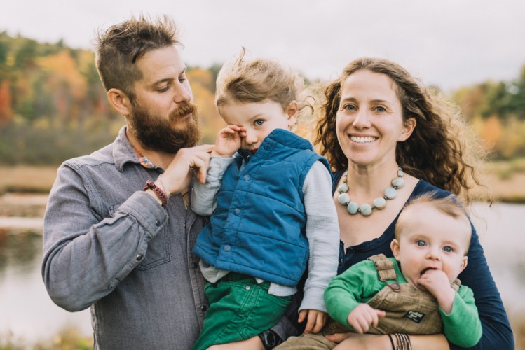 The London Family Portrait Session at Top of the World in Lake George